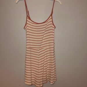 Pink & White Stripe Romper